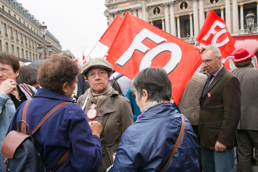 Les neufs organisations syndicales de retraités manifestaient, le 28 septembre 2017 contre la hausse de la CSG.