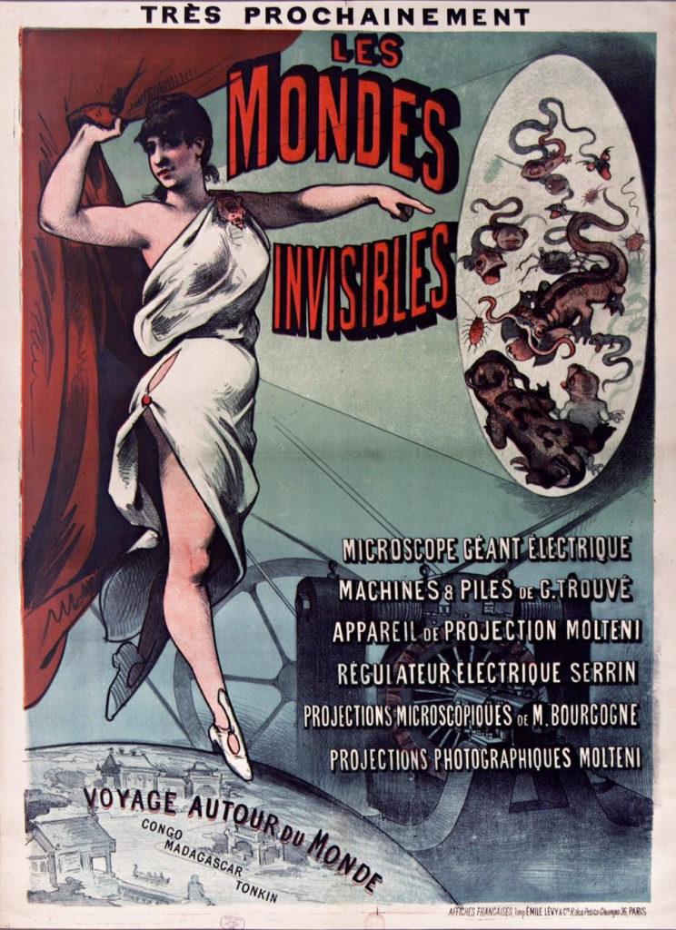 """Spectacle """"Les Mondes Invisibles"""" avec microscope géant électrique 1887)"""